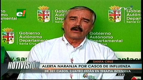 "Santa Cruz declara ""alerta naranja"" por incremento de casos de influenza"