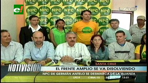 Germán Antelo y el NPC rompen con Samuel y la crisis opositora se agrava