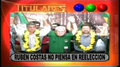 Titulares: Aseguran que el Gobernador Rubén Costas no piensa en la reelección