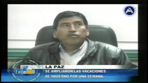 Deciden ampliar vacación de invierno por una semana más en La Paz y El Alto