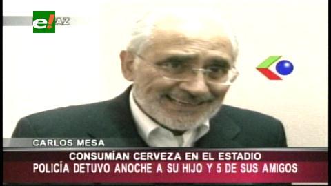 Policía aprehendió y reprimió al hijo del ex presidente Carlos Mesa