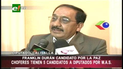 La Paz: Anuncian que Franklin Durán postulará a una diputación por el MAS