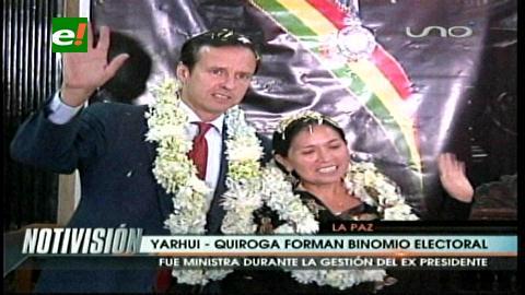 PDC presenta a Tomasa Yarhui como postulante a la Vicepresidencia