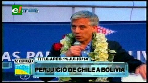 Titulares: García Linera dice que Chile le roba a Bolivia 25 mil millones anuales por la exportación de minerales