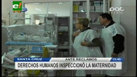 Derechos Humanos verifica falta de espacio en maternidad Percy Boland