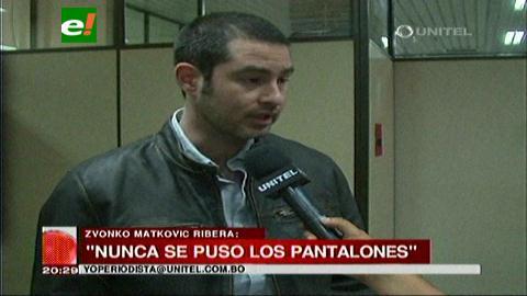 """Matkovic Ribera: """"Rubén Costas nunca se puso los pantalones por el caso terrorismo"""""""