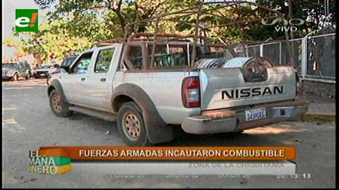 Control: Fuerzas Armadas decomisan diésel y gasolina ilegal