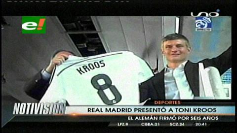 Calurosa acogida a Toni Kroos en su primer día como jugador del Real Madrid