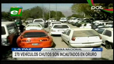 Aduana de Oruro decomisó 271 vehículos indocumentados entre enero y julio