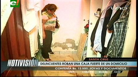Delincuentes se llevaron una caja fuerte en el barrio San Luis