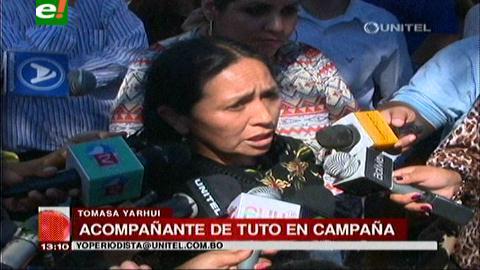 PDC en campaña: Tomasa Yarhui asegura que irán a segunda vuelta