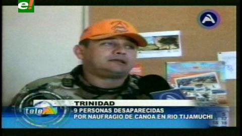 Trinidad: Reportan 9 desaparecidos por naufragio en el río Tijamuchi