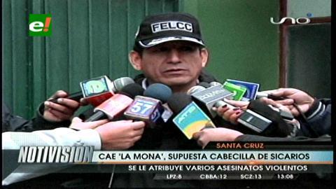 Policía captura a 'La Mona', una presunta jefa de sicarios
