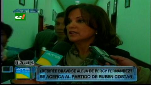 Desireé Bravo apoyará la reelección de Rubén Costas