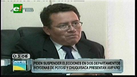 Indígenas de Potosí y Chuquisaca piden suspender las elecciones generales