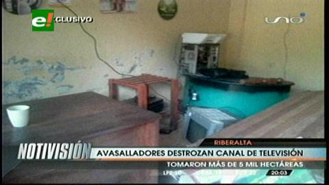 Por disputa de tierras, destruyen canal de TV e incendian vivienda de propietarios