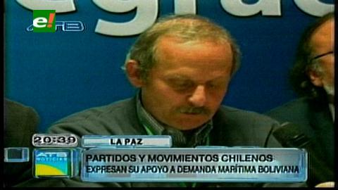 Izquierdistas chilenos apoyan demanda marítima boliviana