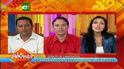 Candidatos debaten el uso de bienes del Estado en las campañas