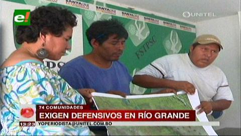 Guarayos: Comunidades exigen la construcción de defensivos para el río Grande