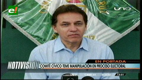 Titulares: Comité Cívico cruceño teme manipulación en el proceso electoral del 12 de octubre