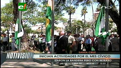 Alcaldía da inicio a las actividades del mes aniversario con iza de bandera