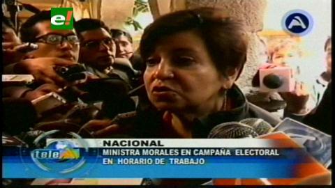 Encuentran a Ministra Morales haciendo campaña electoral en horas de trabajo