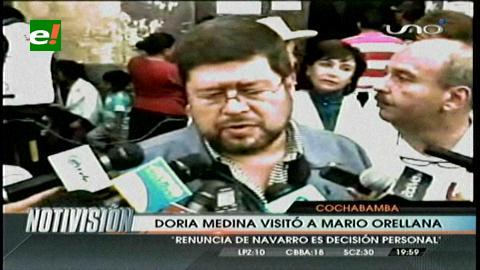 Doria Medina ofrece su apoyo a Mario Orellana