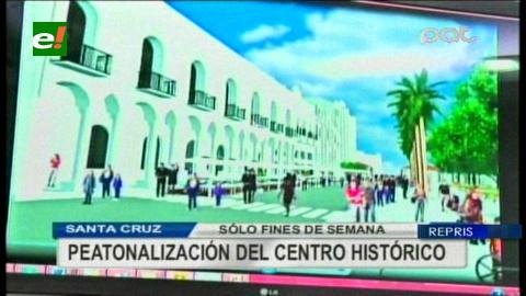 Santa Cruz: Inicia plan piloto de peatonalización en centro histórico