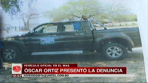 UD denuncia uso de vehículo del Ministerio de la Presidencia en campaña del MAS