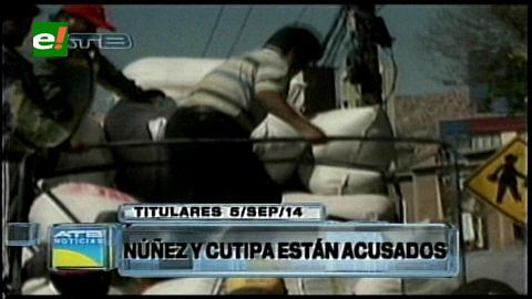 Titulares: Presentan acusación formal contra el viceministro Dionisio Núñez por el desvío de coca