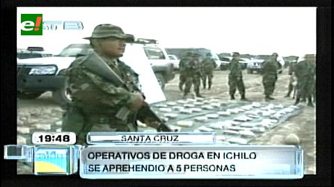 Provincia Ichilo: Incautan 100 paquetes de droga y detienen a 5 personas