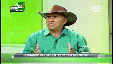 Fernando Vargas propone romper con el centralismo y recomponer la relación del hombre con la naturaleza