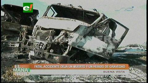 Santa Cruz: Chofer muere calcinado en accidente de tránsito