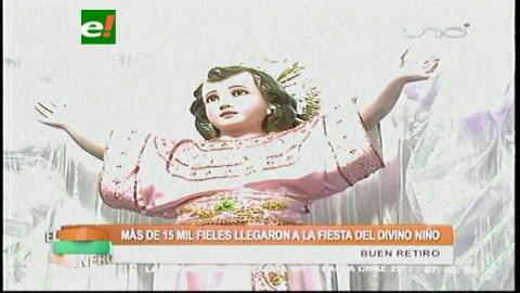 El Divino Niño bendijo a más de 15 mil feligreses