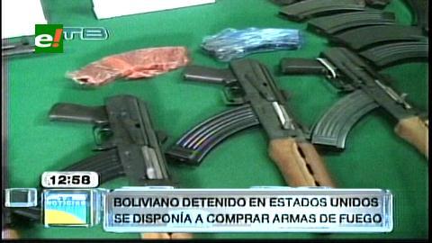 Arrestan en EEUU a un boliviano por tráfico de armas