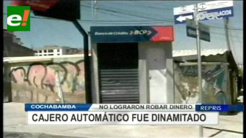 Cochabamba: Dinamitan cajero automático del BCP