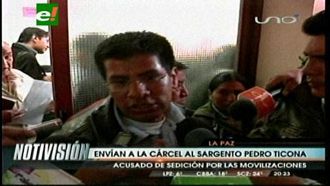 Represalia: Pedro Ticona es enviado a la cárcel por alentar motín en protestas policiales de julio