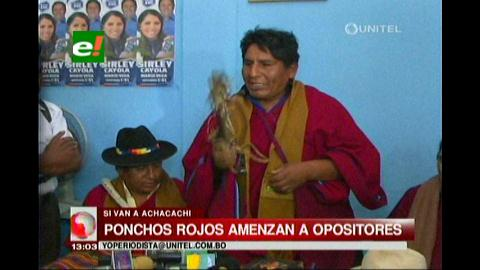 """Ponchos Rojos, amenazan con """"chicotear"""" a los opositores"""