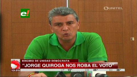 Ernesto Suárez asegura que candidatura de Tuto Quiroga beneficia al MAS