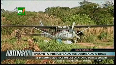 San Germán: Umopar intercepta y derriba narco-avioneta a tiros