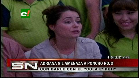 "Adriana Gil responde a Poncho Rojo: Lo voy a esperar con mi ""cola e' peji"""