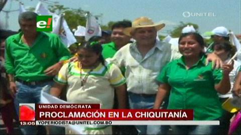 Ernesto y Rubén hacen campaña en la Chiquitanía