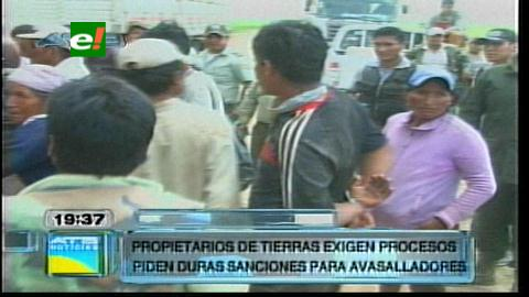 Policía desaloja a los avasalladores de Limoncito, hay 50 detenidos