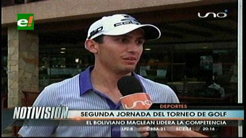 Bolivian Open: Segunda jornada del torneo de golf, MacLean lidera la competencia
