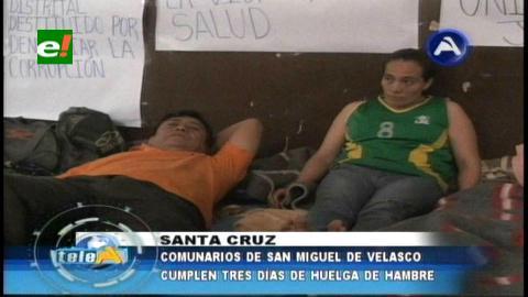 Comunarios de San Miguel de Velasco instalan una huelga en el Seduca