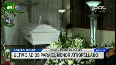Dieron el último adiós al niño que murió atropellado