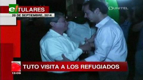 Titulares: Tuto visitó a los refugiados políticos en Brasil