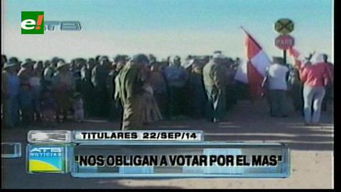 Titulares: Comunarios de Coroma denuncian que son obligados a votar por el MAS bajo amenaza de quitarles sus tierras