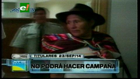 Titulares: Ex prefecta de Chuquisaca no podrá hacer campaña electoral, no pudo modificar las medidas sustitutivas