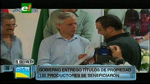 INRA entregará más de 6 mil títulos agrarios